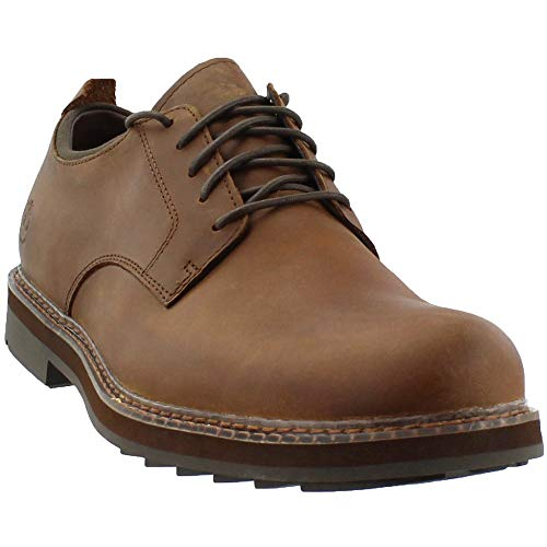 Timberland Men's Squall Canyon Plain Toe Waterproof Oxford Medium Brown Full Grain 10.5 D -