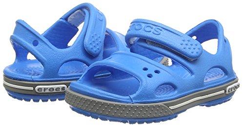 Crocs Kid's Boys and Girls Crocband II Sandal | Pre School Flat, Ocean/Smoke 8 M US Toddler by Crocs (Image #5)
