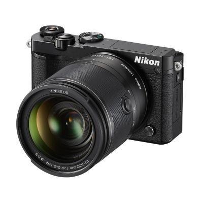 Nikon 1 J5 Systemkamera (20 Megapixel, 7,5 cm (3 Zoll) Display, 4K-Videoaufzeichnung, Funktionswählrad, Einstellrad, Funktionstaste, WiFi, NFC, USB, HDMI) Kit inkl. 10-100mm 1:4,0-5,6 VR Objektiv schwarz