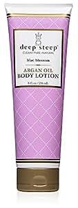 Deep Steep Argan Oil Body Lotion, Lilac Blossom, 8 Fluid Ounce