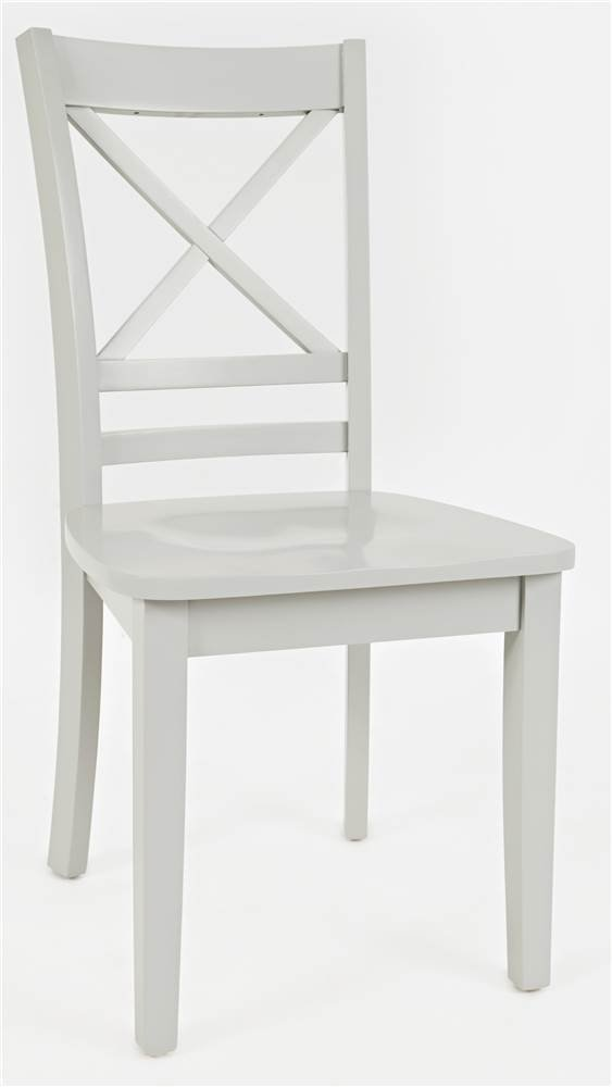 """Jofran Simplicity X Back Dining Chair, 18""""W X 23""""D X 38""""H, Dove Finish, (Set of 2)"""