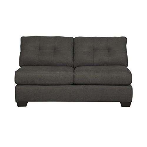 Ashley Delta City Polyester Sleeper Sofa in Steel