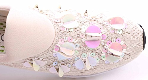 Ch Zapatos Mujeres On White Slip Sneakers Ricamo Sneaker Liu C Jo New xOvqwXn6