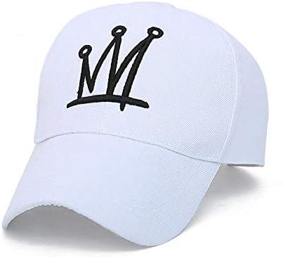 Baseball Kappe Hüte Baseball Bestickte Krone Einfach Lässig Verstellbare Paare Laufhut Mann Frau Sonne 56-60Cm Weiß