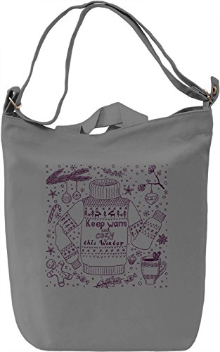 Keep warm and cozy Borsa Giornaliera Canvas Canvas Day Bag| 100% Premium Cotton Canvas| DTG Printing|