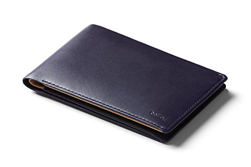 Bellroy Travel Wallet (Slim Leather Passport Wallet, RFID Blocking, Organizes Travel Documents, Cash & Tickets, Holds 4-10 Cards, Includes Micro Pen) - Navy - RFID