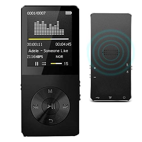 """MP3 Player / MP4 Player, Hotechs MP3 Music Player with Slim Classic Digital LCD 1.82"""" Screen MINI USB Port with FM Radio, Voice record"""