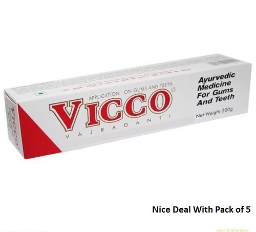 Vicco Vajradanti Toothpaste 200g (Ayurvedic Herbal Toothpaste)