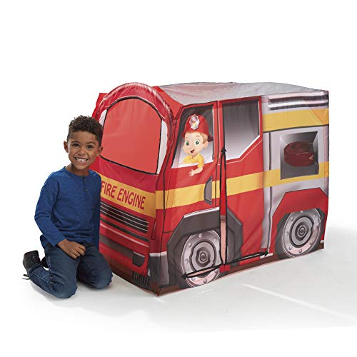 Playhut Fire Engine EZ Vehicle Pop-Up Play Tent - Easy Pop-Up and Fold Down with Multiple Doors and Windows, Durable Materials