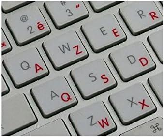 Adesivitastiera.it – Pegatinas de letras para teclado italiano, fondo transparente, letras rojas, para modelos de Apple rojo