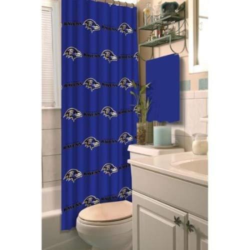 Shower Curtain Baltimore Ravens - Baltimore Ravens Decorative Bath Collection Shower Curtain, 72