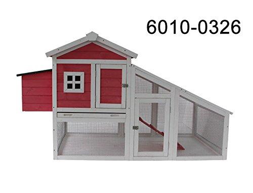 70'' Wooden Chicken Coop Hen House Rabbit Hutch Big Backyard Pet Cage 6010-0326P/6010-0327 (6010-0326P)
