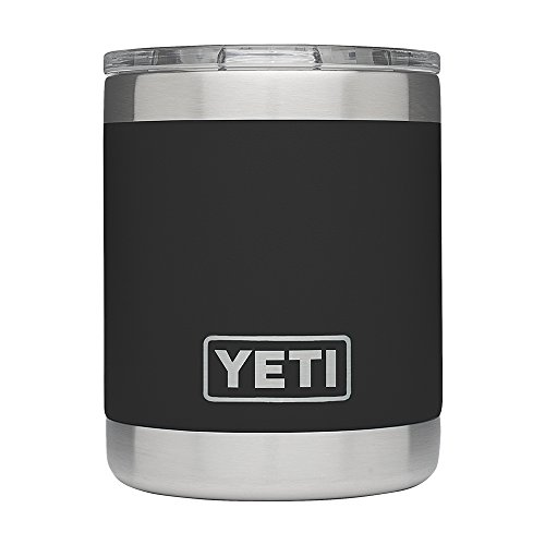 YETI Rambler 10oz Vacuum Insulated Stainless Steel Lowball with Lid, Black DuraCoat