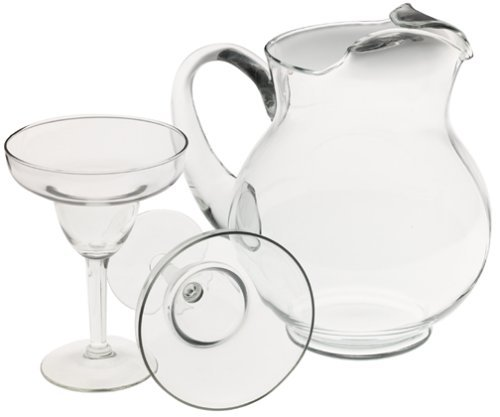 Libbey Cancun Entertaining Set with 6 Margarita Glasses and Pitcher (Best Month To Go To Cancun)