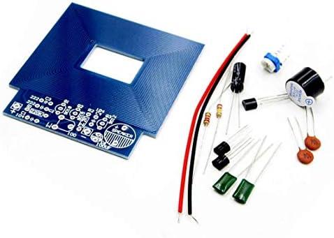 Detector de metales simple Localizador de metales Producción electrónica DC 3V - 5V DIY Kit Materiales respetuosos con el medio ambiente - Azul