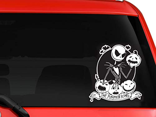 LA DECAL Jack & Sally Nightmare Before Christmas Jack The Pumpkin King Vinyl Decal for car Truck laptop 6