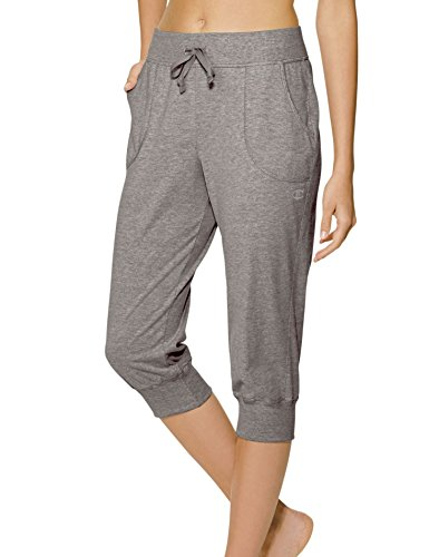 Champion Women's Jersey Banded Knee Pant, Oxford Gray, XL