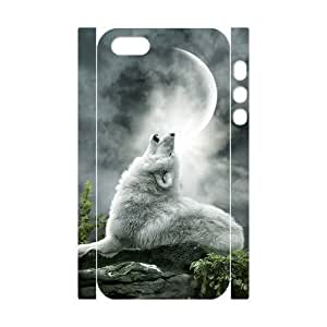 ALICASE Diy Customized Case Wolf Howling 3D Case For Sam Sung Note 4 Cover [Pattern-1]