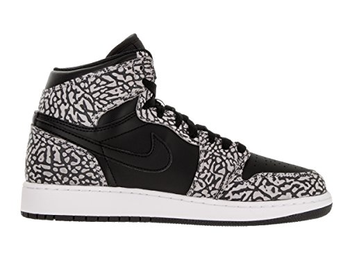 Nike Air Jordan 1 Retro Hi Prem Bg, Zapatillas de Baloncesto para Niños Negro / Rojo (Black / Gym Red-Cmnt Gry-Anthrct)