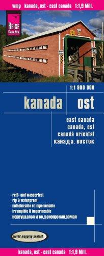 Canada este, mapa de carreteras impermeable. Escala 1:1.900.000. Reise-Know-How. (119m) por VV.AA.