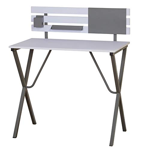 TMS 50207GRY Arden Modern Home Office Task Table Desk, 33.5