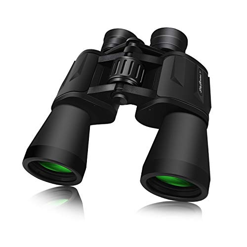 - SkyGenius 10 x 50 Powerful Full-Size Binoculars for Adults, Durable Clear Binoculars for Bird Watching Sightseeing Hunting Wildlife Watching Sporting Events with Low Light Night Vision(1.76 Pound)