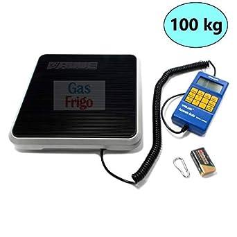 Báscula electrónica 100 kg Gas Refrigerante R404 A R410 A R134 a condicionar: Amazon.es: Industria, empresas y ciencia