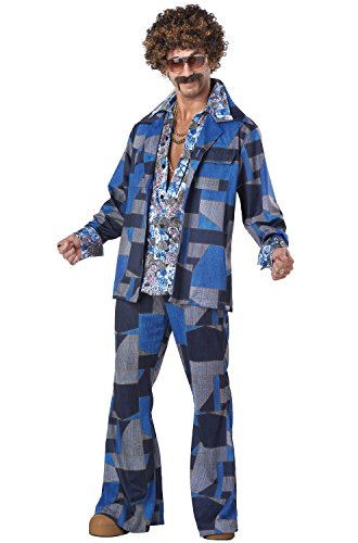 California Costumes Men's Boogie Nights 70's Disco Costume, Blue, Small]()