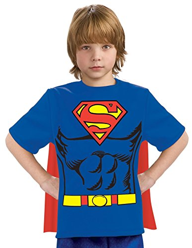 Justice League Child's Superman 100% Cotton T-Shirt – Medium