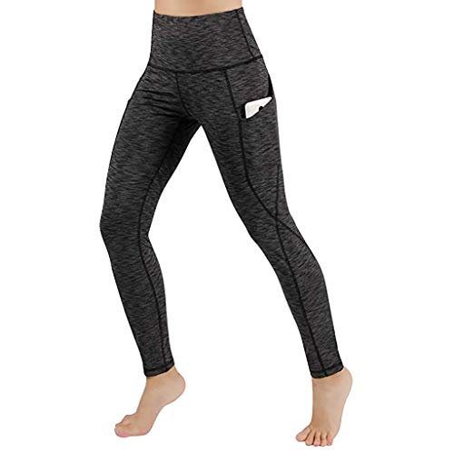d0d5987f453c16 Hattfart High Waist Yoga Pants with Pockets, Tummy Control Workout Pants  for Women Stretch Yoga