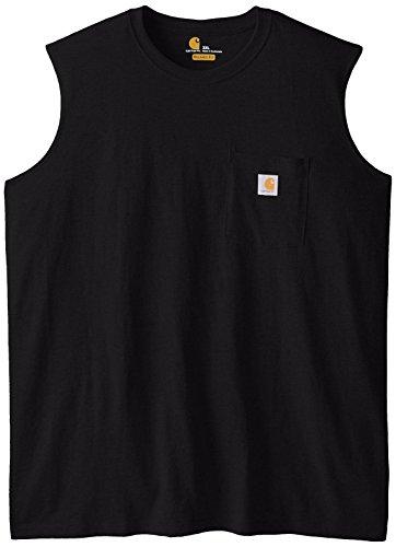 Carhartt Men's Big & Tall Workwear Pocket Sleeveless Midweight T-Shirt Relaxed Fit,Black,XXX-Large