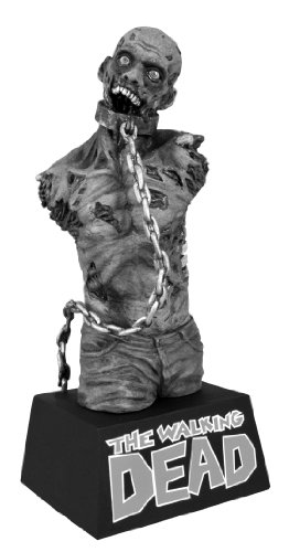 DIAMOND SELECT TOYS The Walking Dead Black and White Pet Zombie Bust Bank - Wobbler Bank
