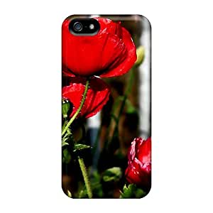 New Shockproof Protection Case Cover For Iphone 5/5s/ Lovely Poppies Case Cover