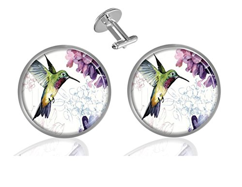 ecowcow Hummingbird Custom Classic Jewelry Tuxedo Shirt Cufflinks Men's Unique Business Wedding Gifts