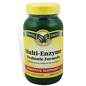Spring Valley Multi-Enzyme Probiotic 200 Tablets