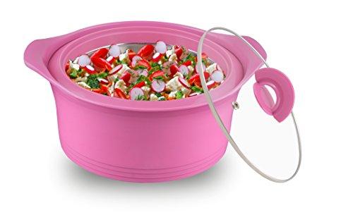 Asian Luxury Plastic Casserole, 1 Litre, Pink