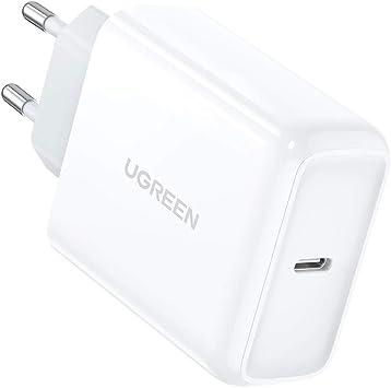 UGREEN 45W Cargador USB C, Cargador Power Delivery 3.0 Cargador Carga Rápida para Samsung S20 Ultra