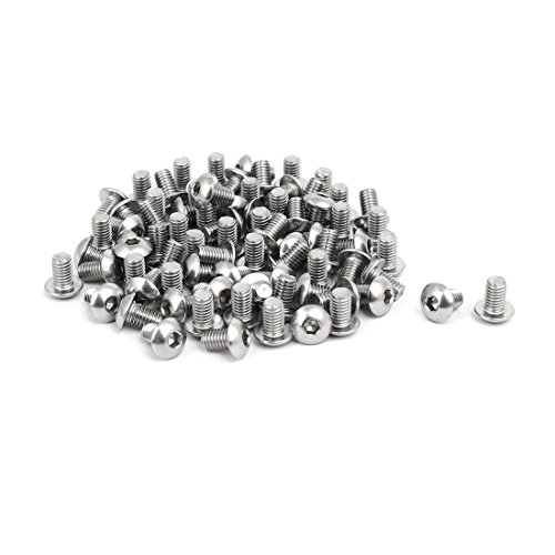 uxcell M5x8mm 304 Stainless Steel Button Head Hex Socket Cap Screws Bolts 80pcs