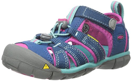 KEEN Unisex Kid's SEACAMP II CNX-C, Poseidon/Very Berry, 11 (Sandals Kids Keen For)