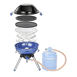 Campingaz Party Grill 400 Camping Stove, All in One portable Camping BBQ, Outdoor Grill & Stove, Small Gas Barbecue 2.000 Watt, Tabletop BBQ