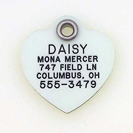 c7d0f2914c65 LuckyPet Pet ID Tag - GLOW In The DARK Tags - Custom engraved dog tags &