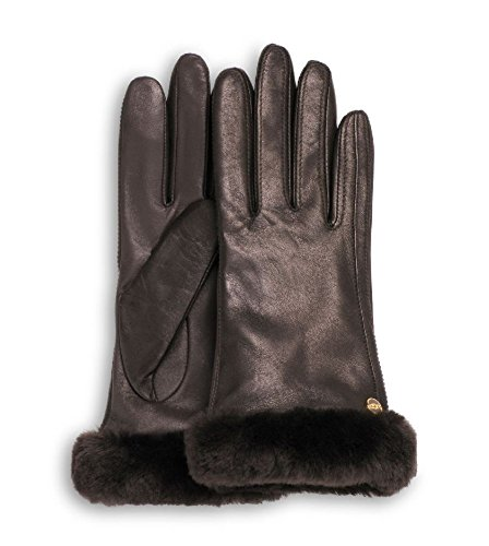 UGG Australia Classic Leather Smart Glove Brown Size Small