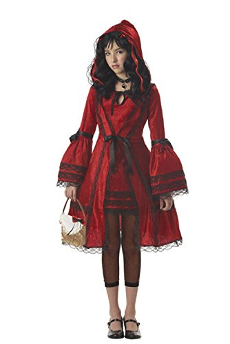 Gothic Red Riding Hood (Strangeling Dark Gothic Red Riding Hood Tween Girls Costume)
