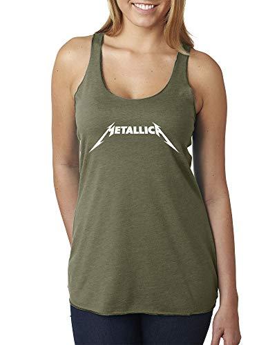 New Way 925 - Women's Tank-Top Metallica Metal Rock Band Logo Large Military Green (Best Metal Band Logos)