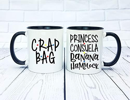 (Princess Consuela Banana Hammock And Crap Bag Mug Set Mr And Mr His And Hers Ross And Rachel Monica And Chandler)