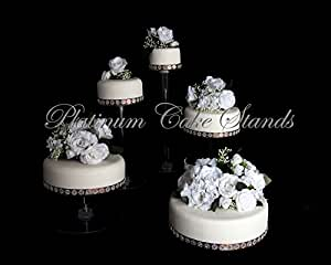 4 tier cascading wedding cake stand stands set 5 tier cascade wedding cake stand wedding 10371