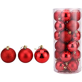 christmas ball pendant decorative shatterproof christmas tree pendants hanging 40mm christmas baubles balls ornaments set