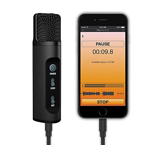 Portable Condenser Microphone For Iphone, TKGOU Wireless KARAOKE Microphone, Home Studio Recording Microphone For Singing With Monitor,Echo Karaoke,Voice Changer,Mic for Iphone/Android (M991B)