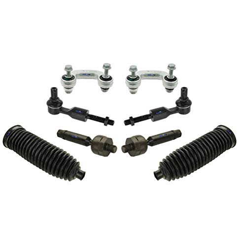 Tie Volkswagen Rod Passat (PartsW 8 Pc New Suspension Kit for Audi / A4, A4 Quattro, A6, A6 Quattro, Volkswagen/Passat / Tie Rod Linkages & Sway Bars, Bellow Boots)