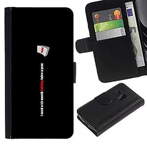 All Phone Most Case / Oferta Especial Cáscara Funda de cuero Monedero Cubierta de proteccion Caso / Wallet Case for Samsung Galaxy S3 MINI 8190 // Six Month Holiday - Funny